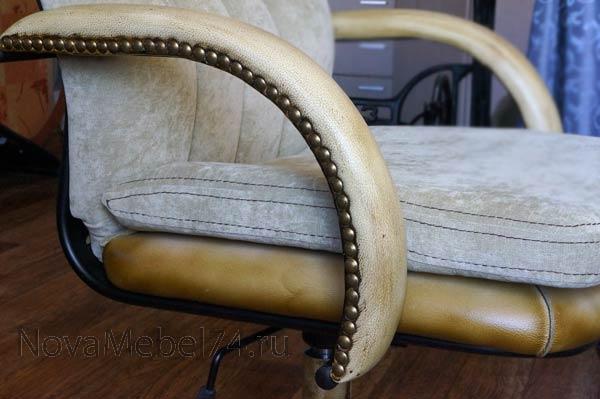 Как обшить стул кожей своими руками 23