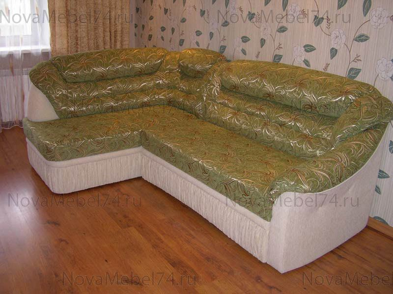Перетяжка углового дивана своими руками пошагово